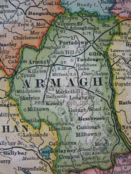 County Armagh Ireland Map.Maps